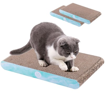 고양이 스트레스 해소 골판지 매트 캣닢 스크래쳐