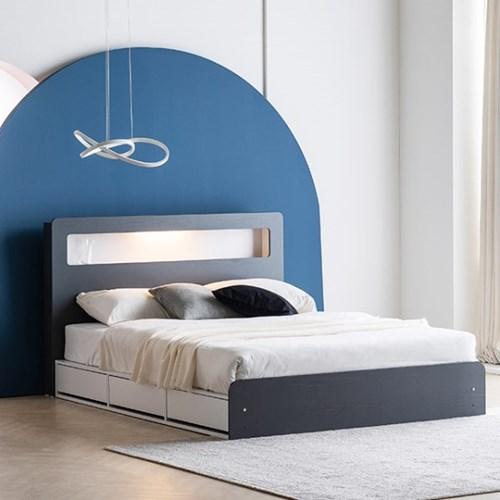 KUF 타임존 LED 멀티수납형 침대 Q/K_(2123130)