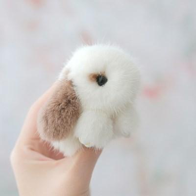 리얼퍼 토끼 인형 키링 가방 악세사리 자동차 키홀더-HO
