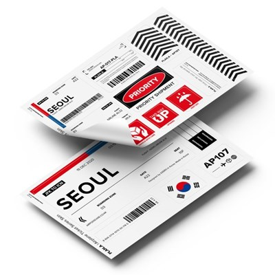 PLAN.A 에어플레인 티켓 시리즈 커스텀 스킨 스티커