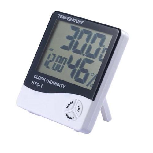 5in1 선명 큼직 디지털 온도계 습도계 탁상 알람 시계