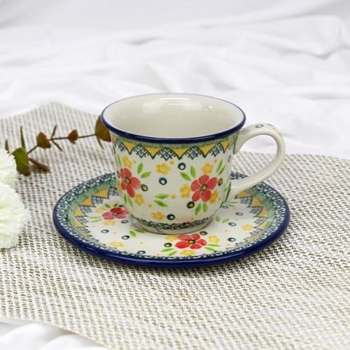 폴란드그릇 아티스티나 커피잔소서세트180ml 패턴2357