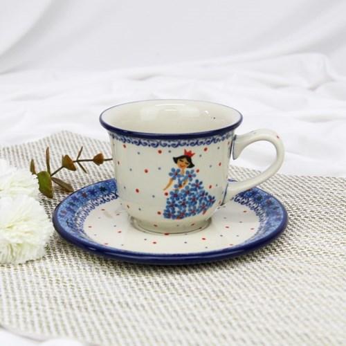 폴란드그릇 아티스티나 커피잔소서세트180ml 패턴2285