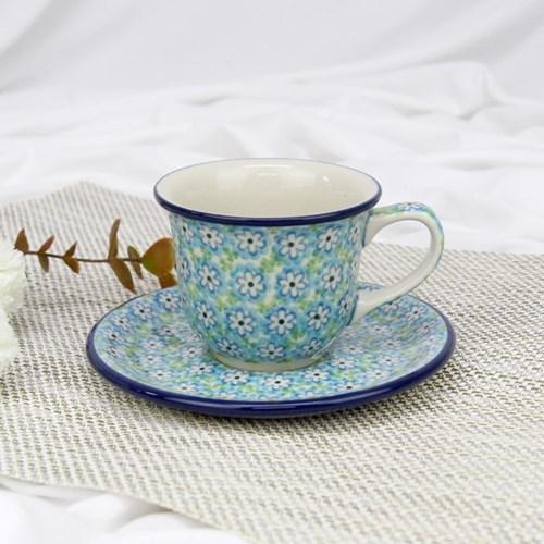 폴란드그릇 아티스티나 커피잔소서세트180ml 패턴2252
