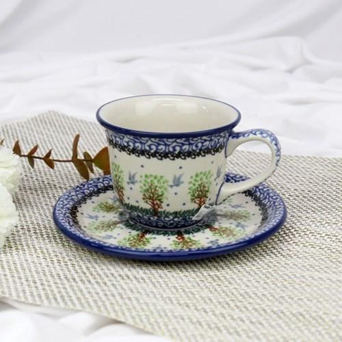 폴란드그릇 아티스티나 커피잔소서세트180ml 패턴1744