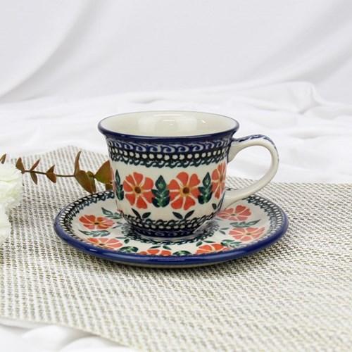 폴란드그릇 아티스티나 커피잔소서세트180ml 패턴1215