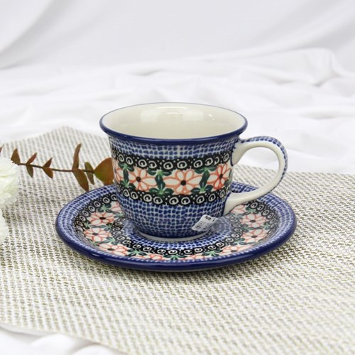 폴란드그릇 아티스티나 커피잔소서세트180ml 패턴1214