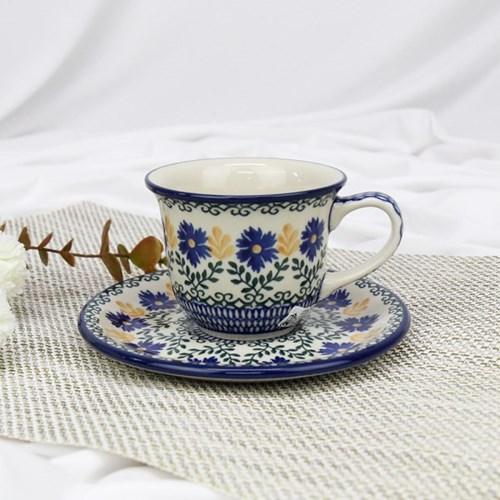 폴란드그릇 아티스티나 커피잔소서세트180ml 패턴1196