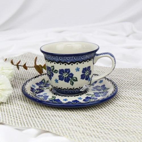 폴란드그릇 아티스티나 커피잔소서세트180ml 패턴1083