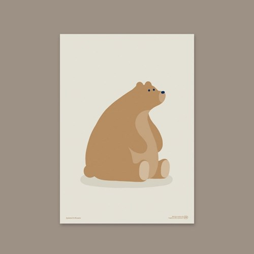 GOLD BEAR POSTER (paper / fabric)