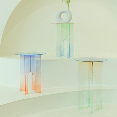 [studio riposo] 아크릴 사이드 테이블 acrylic side table series.