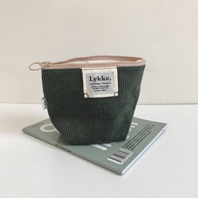 Lykke Corduroy Pouch_Forest