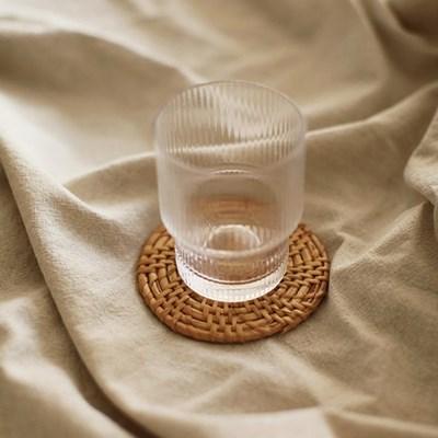 슬림 라탄 컵받침 코스타 티코스터 코스터 (8cm)