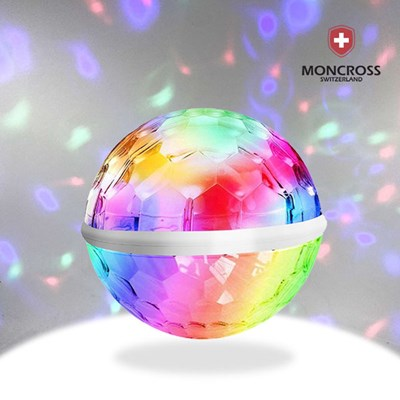 몽크로스 USB 미니 미러볼 360도 소리인식 노래방조명
