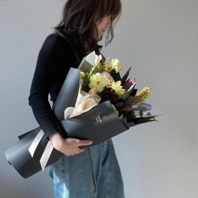 [생화] 컬러 팔레트 꽃다발 (택배 불가능)