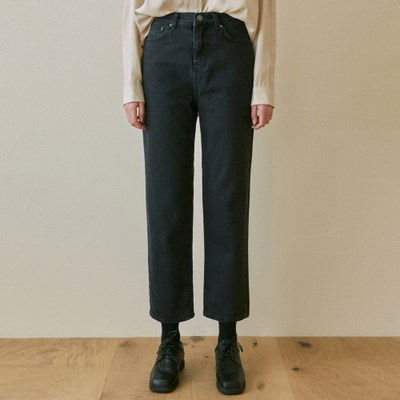 HIGHRISE STRAIGHT JEAN_BLACK DENIM