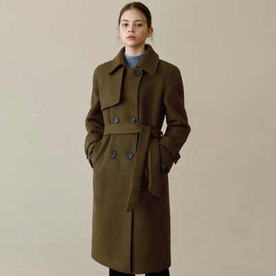 WINTER DOUBLE TRENCH COAT_BROWN