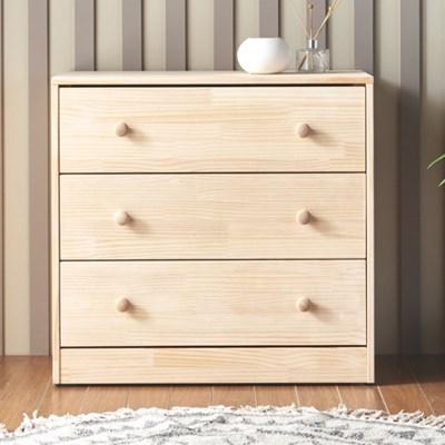 [에띠안]데니우드 780 와이드 소나무 뉴송 원목 3단 서랍장