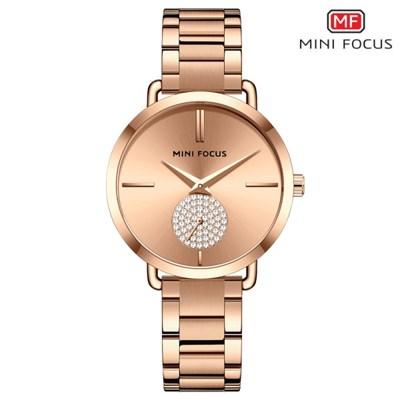 미니포커스 여성 메탈밴드 패션 손목시계 MF0222L03