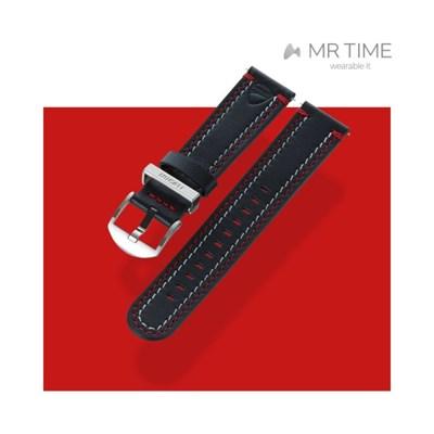 [MR TIME x DUCATI] 두카티 콜라보 시계줄 더블 스티치 레더 블랙