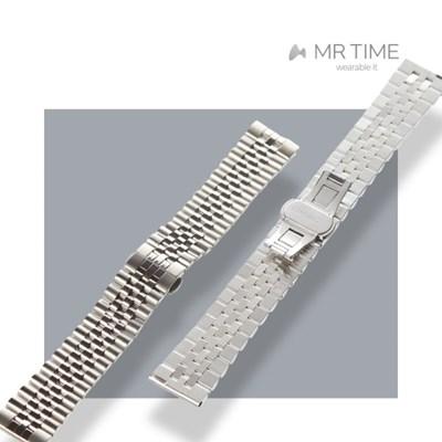 [MR TIME Metal] 스테인레스 스틸 메탈 실버 브러쉬드 실버