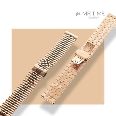 [MR TIME Metal] 스테인레스 스틸 메탈 로즈골드 브러쉬드 로즈골드