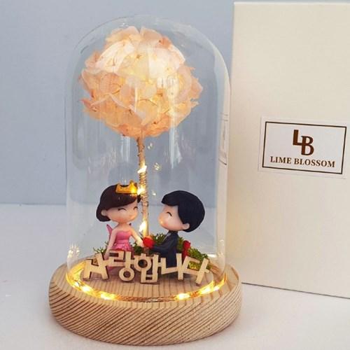 프로포즈 LED 유리돔 무드등 선물 인테리어