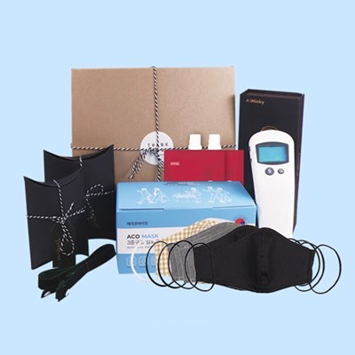 [K-방역 선물세트B] A+Iminky 비접촉 적외선 온도 측정기 국산온도계
