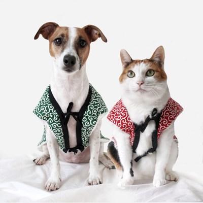 당초 뽀글이 조끼 후리스 패딩 고양이옷 강아지옷 겨울 MIYOPET