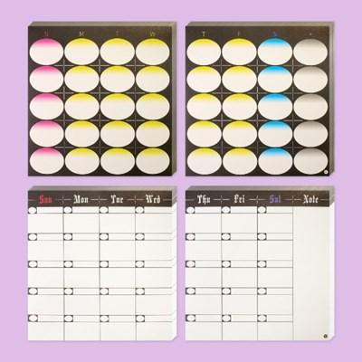 Paper Sticker - 6 Months Planner (2type)