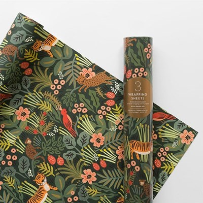 Jungle Wrapping 3 Sheets 포장지