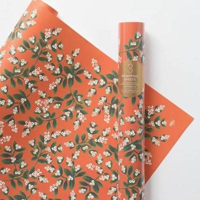 Mistletoe Wrapping 3 Sheets 포장지