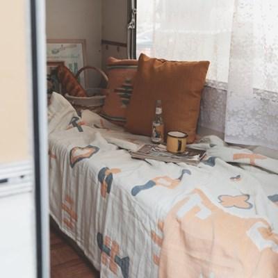 북유럽 모노도형 포근한 블랭킷 캠핑담요 소파커버(150x200)