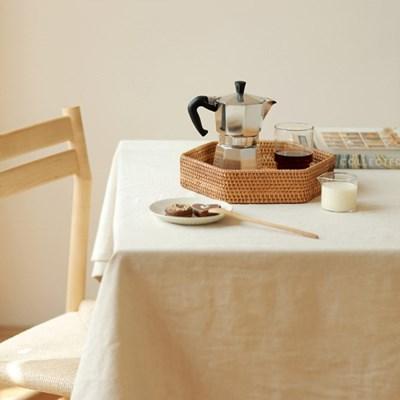 라탄 헥사곤 소품정리 주방 쟁반 트레이 (소)