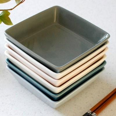 국산 쏠레이 정사각 접시 중 (6colors)_(2134359)