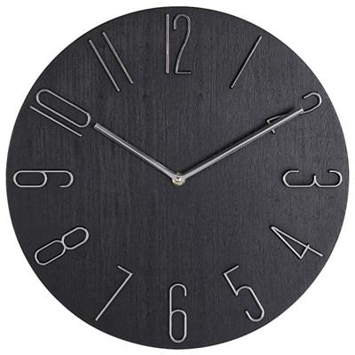 아날로그 인테리어 35cm 저소음 벽걸이 시계 GW003-BK