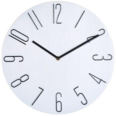 아날로그 인테리어 35cm 저소음 벽걸이 시계 GW003-WH
