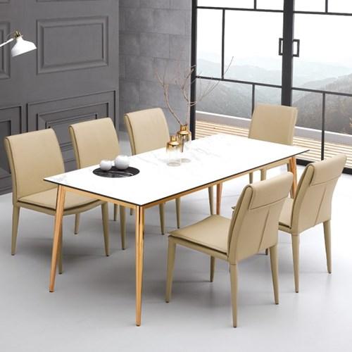 [데코마인] 반느 세라믹 1800 6인용 식탁 테이블