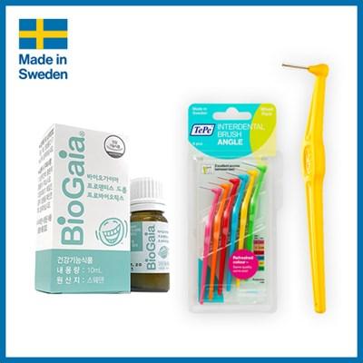 스웨덴 구강유산균 프로덴티스 드롭+테페 ㄱ자 치간칫솔_(3009318)