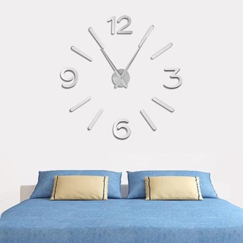 DIY 넘버 벽시계(실버)/인테리어벽시계 무소음시계