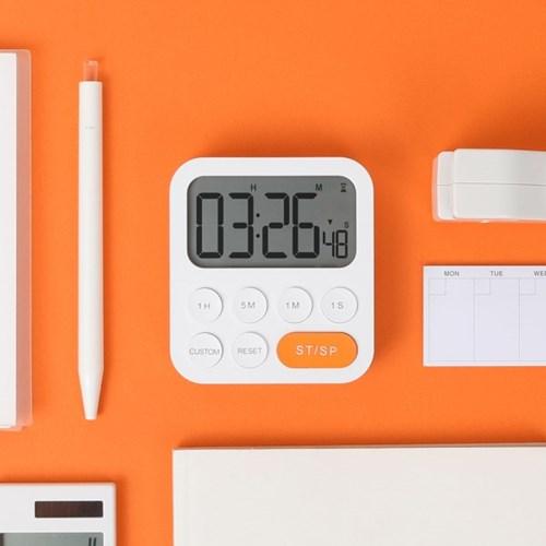 [무아스] 원클릭 쿠킹 타이머 시계 공부 책상 스톱워치