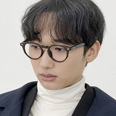 남자 안경 투명 안경테 뿔테
