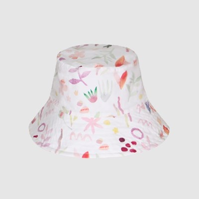 WATER FLOWER REVERSIBLE BUCKET HAT