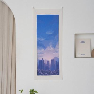 풍경 세로형 패브릭 포스터 / 바란스커튼