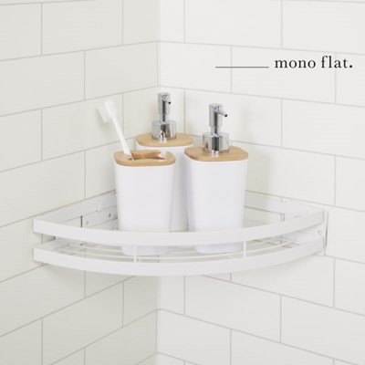 모노플랫 ctrl+v 무타공 다용도 코너 선반 1입 욕실선반