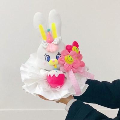 케이크 리코 인형 꽃다발