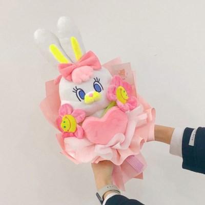 하트 리코 인형 꽃다발