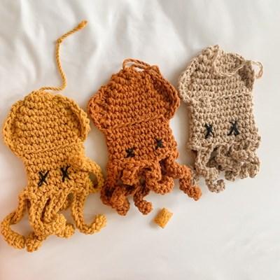개달당 오징어 뜨개 노즈워크 장난감 이갈이 중형견 대형견 장난감