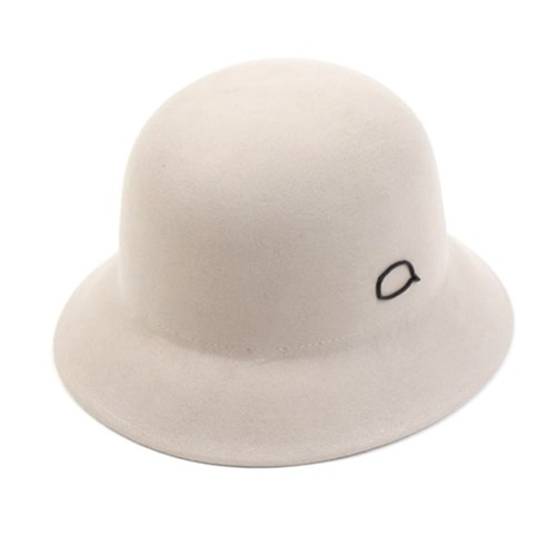 Black Bubble Wool Ivory Cloche Hat 클로슈햇