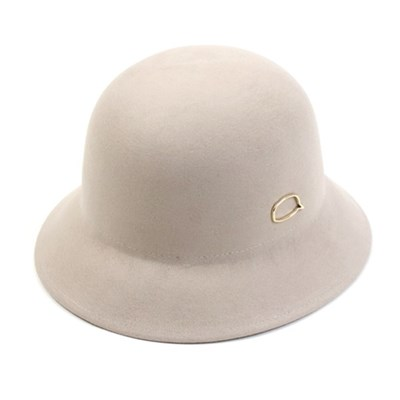 Gold Bubble Wool Ivory Cloche Hat 클로슈햇